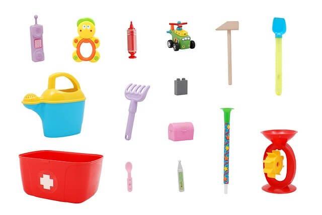 đồ chơi cho bé - điện thoại, xe, đồ tưới cây
